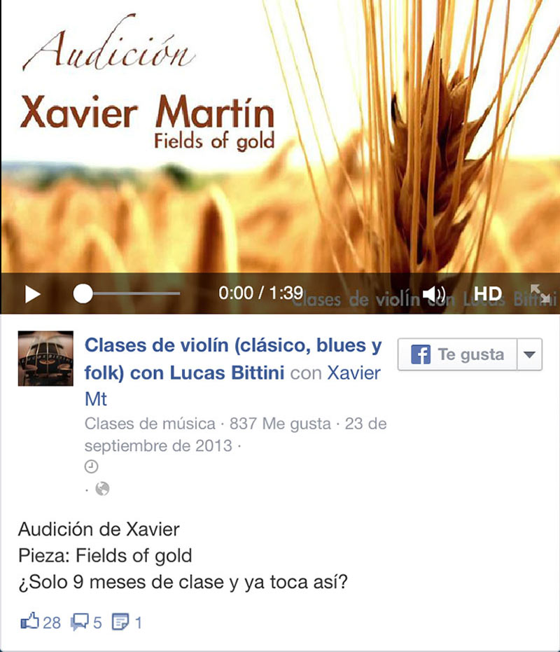 Video Xavier ViolinBcn